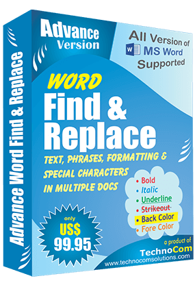 Word Find and Replace