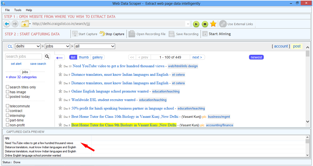 mine the data you seek using the best website scraper software